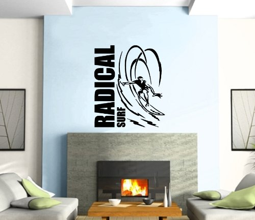 Wall Stickers Vinyl Decal Extreme Water Sports Wave Radical Surf ig1243