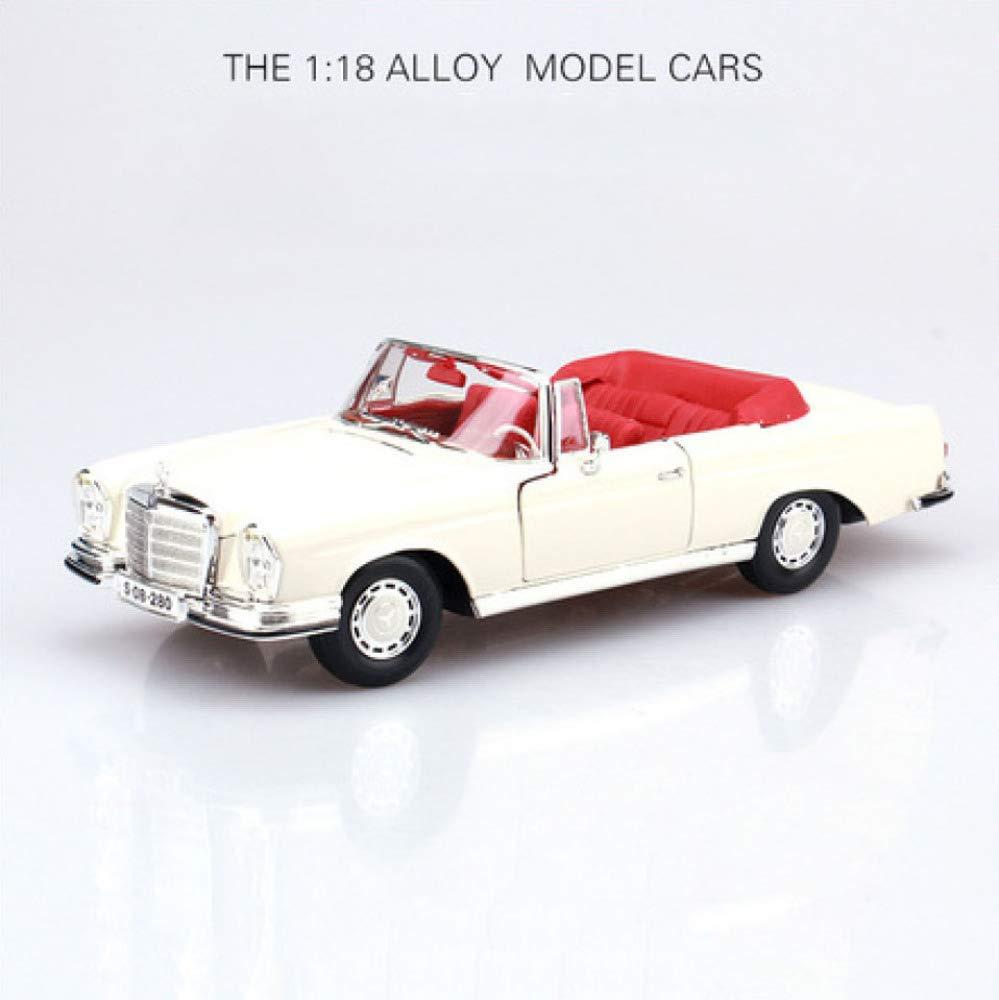 GFLD Modèles préfabriqués à l'échelle de véhicules à Moteur 1 18 1967 Mercedes Benz 280SE Alliage Simulation de Voiture Classique modèle de Voiture Statique decoratio