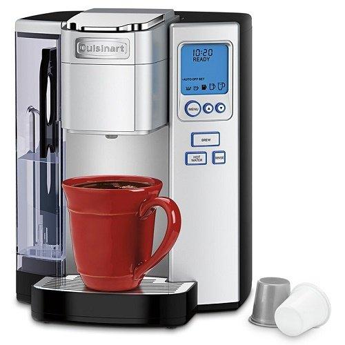 Coffee Maker Premium Single Serve in Black-Silver finish
