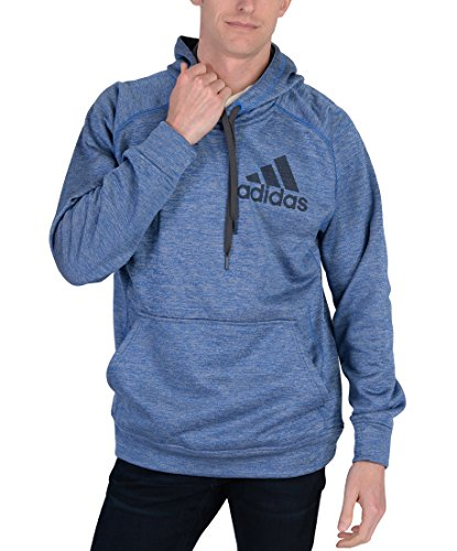 Adidas Mens Team Issue Pullover Hoodie Blue XXL