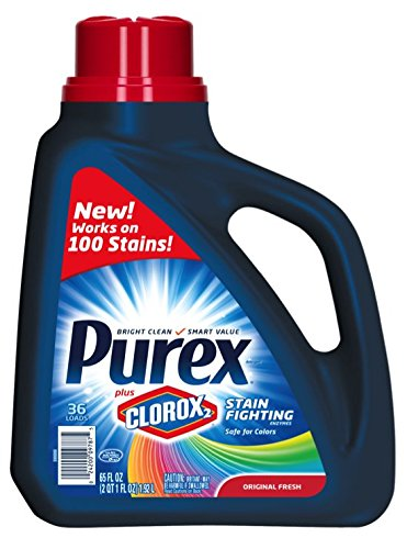 Purex Plus Clorox2 Stain Fighting Enzymes Detergent, Original Fresh, 65 Ounce