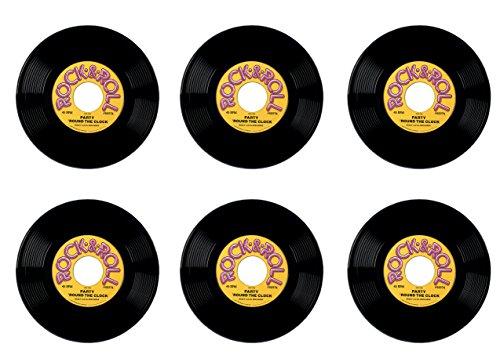 Beistle Bristle S55974AZ6 Plastic Records 6 Piece 19