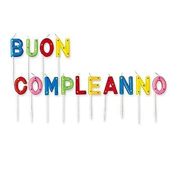Ben noto Candeline scritta buon compleanno: Amazon.it: Giochi e giocattoli CR33