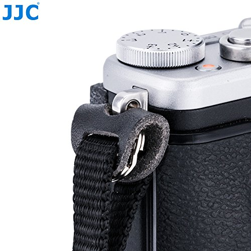 (JJC 12mm Metal Round Lug Collar O Ring Split Adapter for Shoulder Neck Strap Small Eyelets Camera/Fujifilm X100F X100T X-Pro2 Pro1 X-T2 T1 X-T20 T10 X-A5 Sony A7III A7RIII A7S A6500 A6300 A6000 RX100)