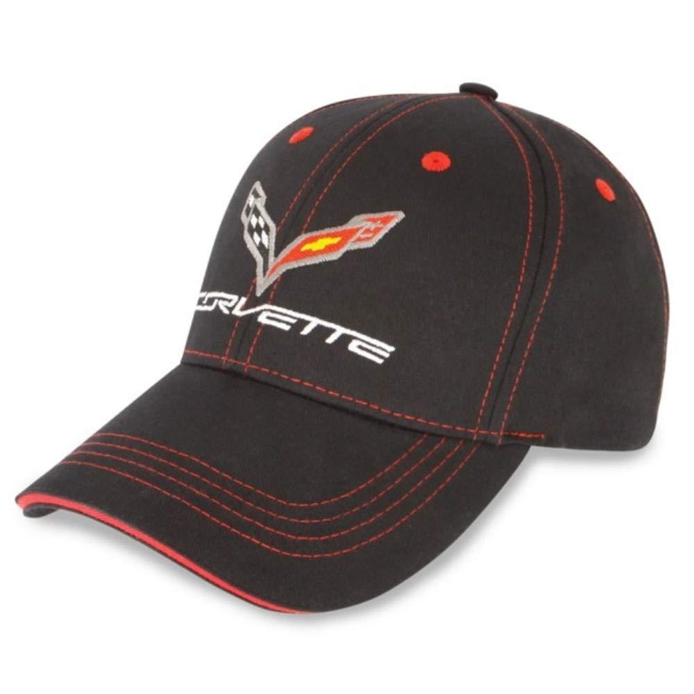 Black//Red C7 Corvette Patch Hat