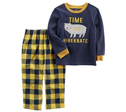 Carter's Boys' 4-14 2 Piece Hibernate Bear Fleece Pajamas 12