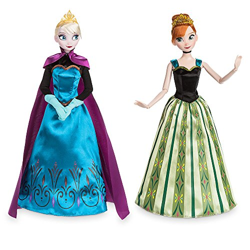Dress Disney Coronation Frozen Elsa (Disney Anna and Elsa Classic Dolls Coronation Gift Set - Frozen - 11)