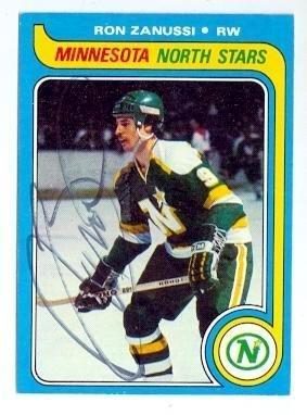 ron-zanussi-autographed-hockey-card-minnesota-north-stars-1979-topps-22-hockey-slabbed-autographed-c