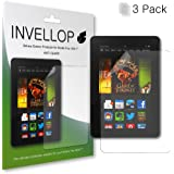 """INVELLOP ANTI-GLARE 3-pack Screen protectors for Kindle Fire HDX 7 7"""" (will only fit Kindle Fire HDX 7"""")"""