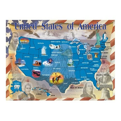 Melissa & Doug Map of the United States Jigsaw Puzzle 500 piece