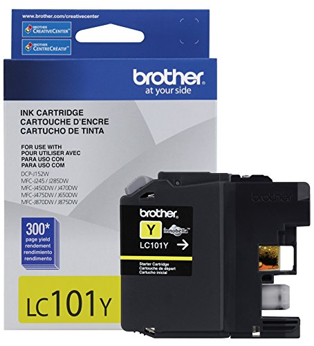 Brother Printer LC101Y Yellow Cartridge