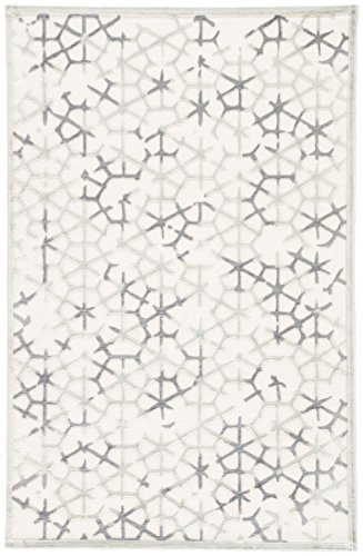 "Jaipur Living Charm Geometric White Area Rug (5' X 7'6"") from Jaipur Living"