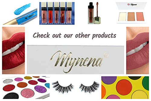 Pressed Glitter Eyeshadow Palette 15 Gel Rainbow Colors Highly Pigmented by Mynena (Image #5)
