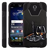 ZTE [Uhura Grand X3] Z959 Proton Guard Dual Layer Phone Case - Cigar Whiskey