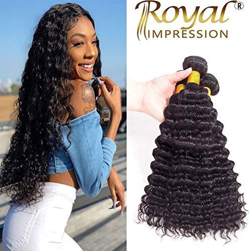 (10A Brazilian Virgin Hair Pineapple Deep Wave 3 Bundles 18