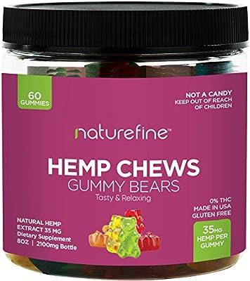 Hemp Gummies - Zero THC CBD Oil Cannabidiol - 2100 MG - 35 MG per Gummie -  Hemp Oil for Pain Relief - Relieves Stress & Anxiety, Overall Health -
