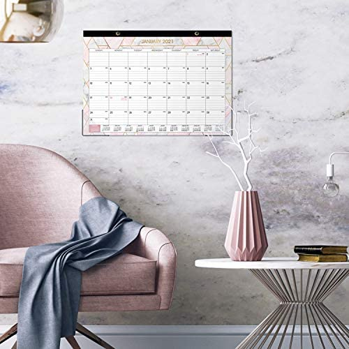 "2021-2022 Desk Calendar - Large Monthly Desk Calendar, 22"" x 17"", Desk Pad, January 2021 - June 2022, Large Ruled Blocks, Best Desk Calendar for Organizing"
