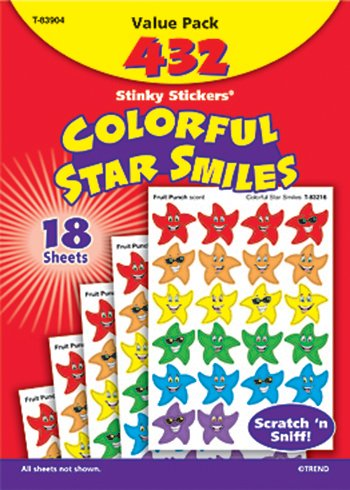 Stinky Stickers Smiley Stars ()