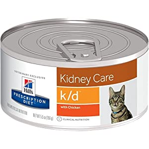 Hill's Prescription Diet k/d Kidney Care with Chicken Canned Cat Food 24/5.5 oz