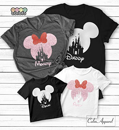 Family Trip Vacation Shirts 2019, Custom Name Matching Youth Women Men Baby Castle T-Shirts, Ladies Summer Tanks