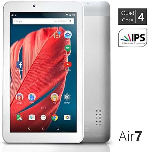 NeuTab 7 inch Quad Core Google Android 5.0 Lollipop Tablet PC 1GB RAM 8GB Nand Flash wide View IPS 1024x600 HD Display Bluetooth 4.0, Slim Metal Design, 1 Year US Warranty FCC Certified