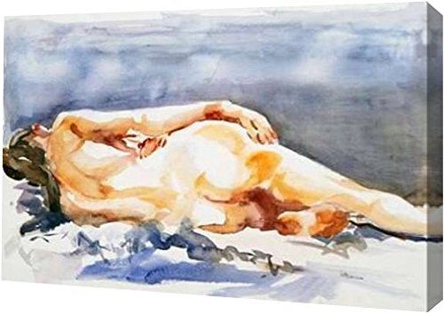 """Nudo by Alessandra Arecco - 8"""" x 12"""" Gallery Wrapped Giclee Canvas Art Print - Ready to Hang"""