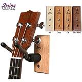 String Swing CC01UK - Ukulele / Mandolin Hardwood Wall Hanger for Home & Studio (Cherry Finish)