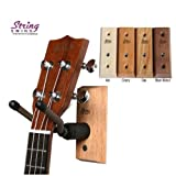String Swing CC01UK - Ukulele / Mandolin Hardwood Wall Hanger for Home and Studio (Ash Finish)