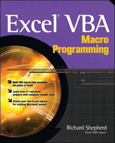 Excel VBA Macro Programming by McGraw-Hill Education