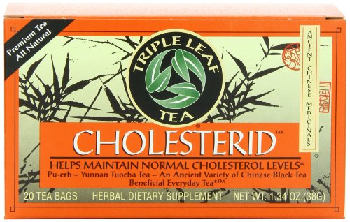 Triple Leaf Tea, Cholesterid, 20 Tea Bags (Pack of 6)