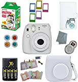 Fujifilm Instax Mini 9 Instant Camera –10 Pack Camera Bundle White (Small Image)