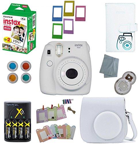 Fujifilm Instax Mini 9 Instant Camera –10 Pack Camera Bundle White (Large Image)