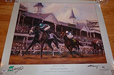 Autographed Mike (Tampa Bay Lightning) Smith Photograph - Giacomo Kentucky Derby Poster Ab27074 - PSA/DNA Certified