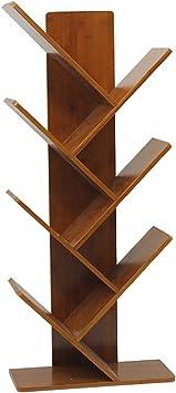 Estantería 7 estante de madera dura en forma de árbol ...