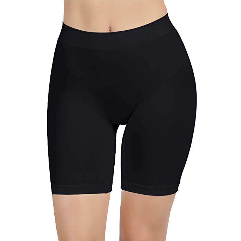 Doad Womens Intimates Yoga Shorts for Women High Waist Workout Compression Tummy Control Running Thigh Slimmer Pants (Black, S)
