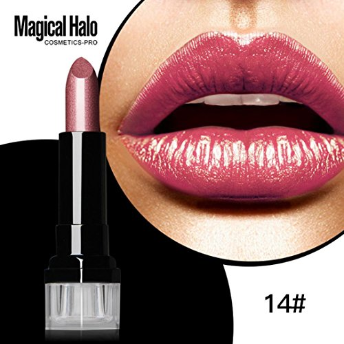 ipstick Frosted Moisturizing Lipstick Waterproof Lip Gloss Beauty Cosmetic (B) (Aloe Velvet Moisture)
