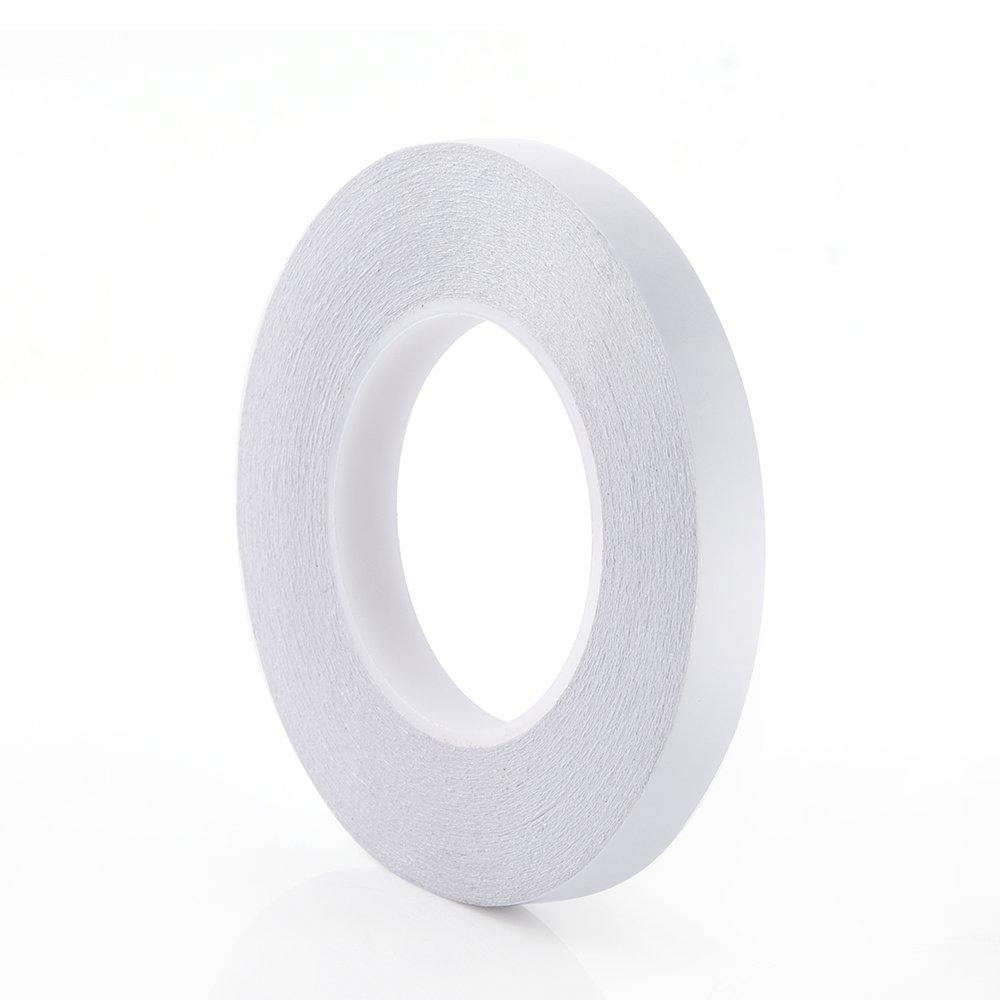 KUUQA - Ruban adhésif double face solide de 55m pour cadeaux, photos, documents, papier peint, scrapbooking, loisirs créatifs, ruban, cartes de vœux et boîtes, 12mm de large KUUQA--Adhesive Tape -01