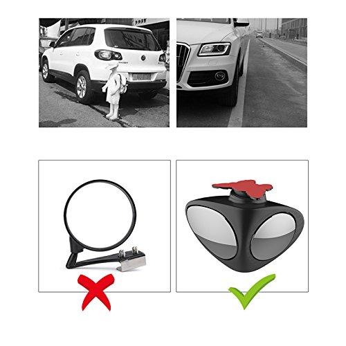 camions mo /durable c/ôt/é Miroir Blind spot universel pour voitures //étanche sans cadre 360/â /° /£ rotatif convexe R/étroviseur/ Tioodre Blind spot miroirs pour voiture/ camionnettes
