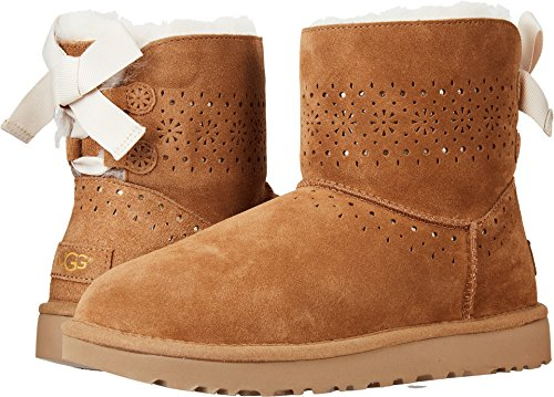 UGG Womens Dae Sunshine Perf Boot, Chestnut, Size 8 (Boot Height Shaft Ugg)