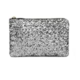 MioCloth FakeFace Dazzling Glitter Bling Sequins Handbag Clutch Purse Evening Party Bag Silver