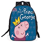 YOURNELO Kids Cartoon Peppa Pig George Color Printed Rucksack School Backpack Bookbag For Boys Girls