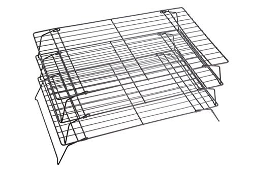 Kitchen Craft Auskühlgitter 3-teilig, 40 x 25 cm, antihaftbeschichtet