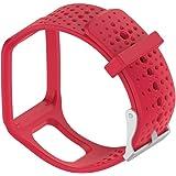 Cinturino di ricambio in silicone per orologio TomTom Multi-Sport, Cardio, GPS, TomTom Runner e molto altro, Red