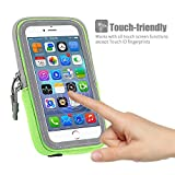 INN LIFE 99 Sports Armband Sweat Proof Running Armbag Gym Fitness Workout Cell Phone Case with Key Holder Wallet Card Slot for IPhone 7 Plus 6 Plus 6S Plus Samsung Galaxy S5 S6 S7 Edge - Green