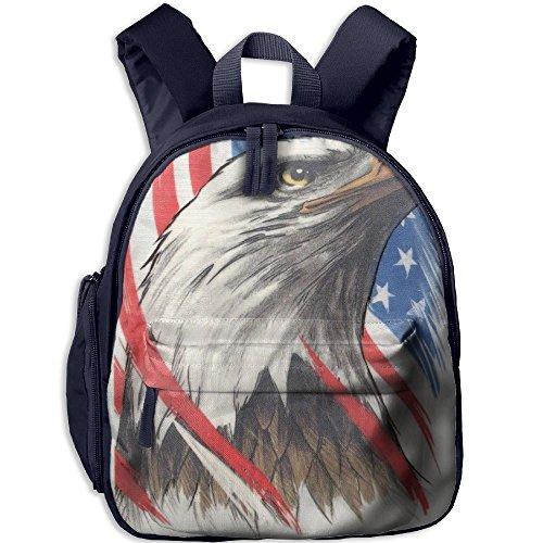Eagle Tattoo Flag American - A&L American-Eagle-Colored-Flag-Tattoo Boys Girls Neutral Oxford School Backpack Navy