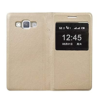 save off b63b1 776da COVERNEW Flip Cover for Samsung Galaxy J2 Pro (Golden)