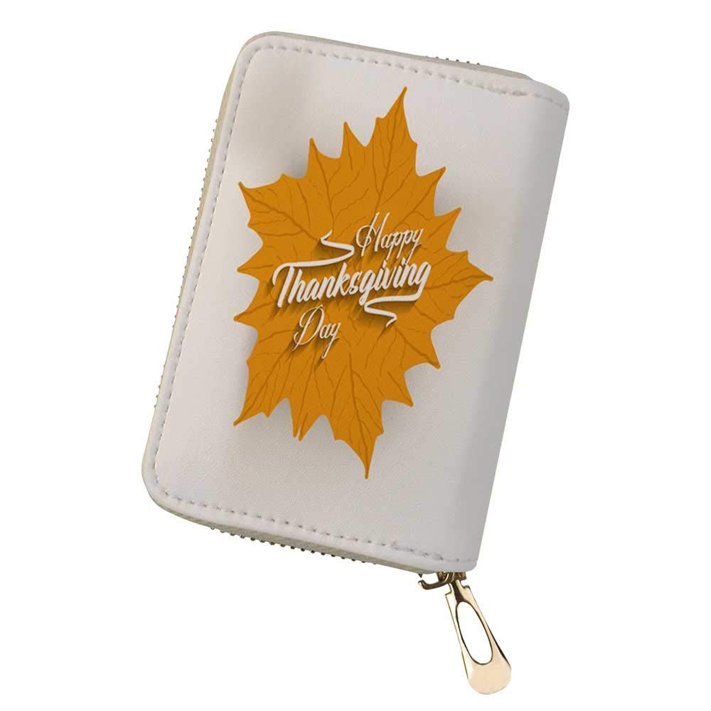 Credit Card Holder Wallets Happy Thanksgiving for Ladies Girls//Gift Box