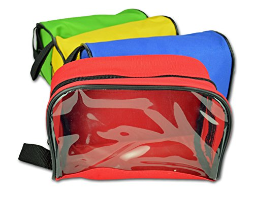 Lightning X Color Coded First Aid Medical Kit Accessory Pouches - Zippered Bag w/ Transparent Window - Set of 4 (Color Pouch)
