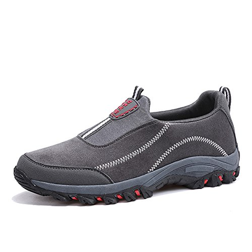 Shoes Non Scurtain Outdoor Casual Gray Elderly Slip Walking Slip Sneakers On Mens Suede XXTPq