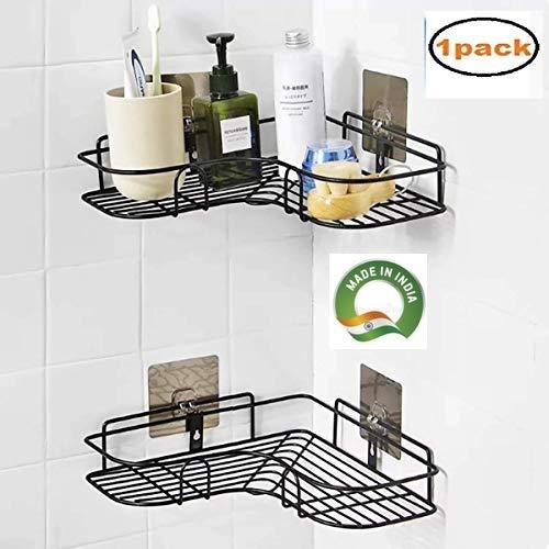 Horoly Self Adhesive Bathroom Corner Rack Storage Shelves Bathroom Storage Rack Corner Stainless Steel Bathroom Corner Buy Online In India At Desertcart In Productid 185464251